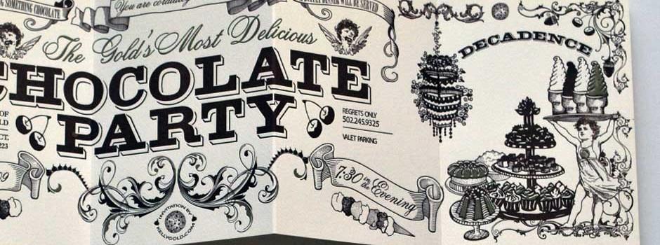 Chocolate Party Invitation 2009-2