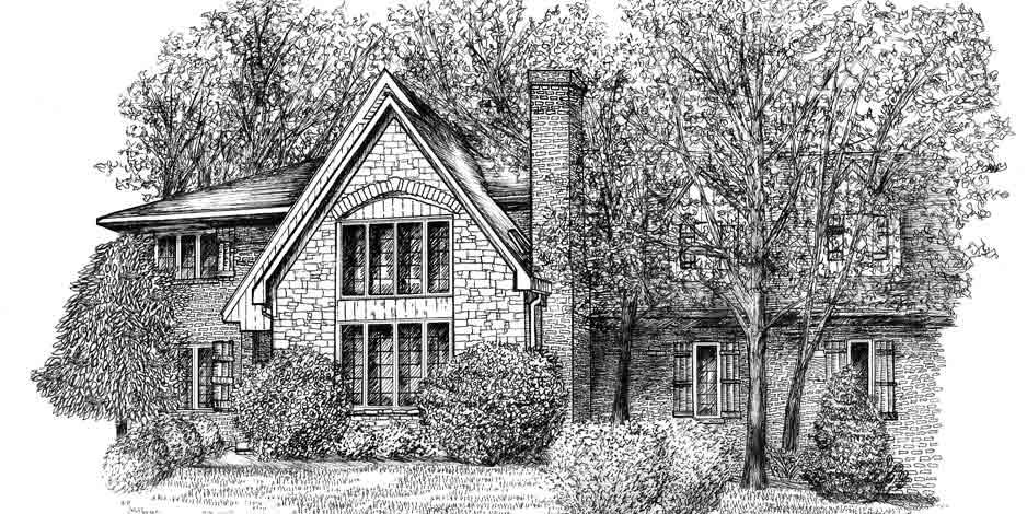 Illustration House Drawing