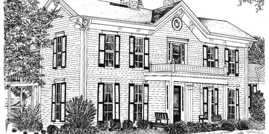 Illustration House Drawing 7