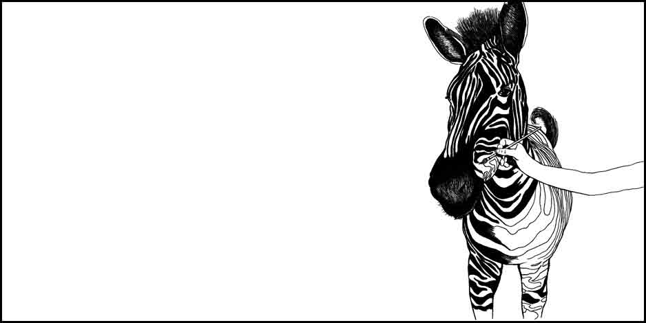 Illustration Z is for Zebra