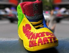 Bejeweled and Painted Sneakers for Ellen's Run