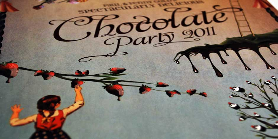 Chocolate Party Invitation Detail Cover 2011