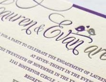 Custom Stacked Wedding Invitation