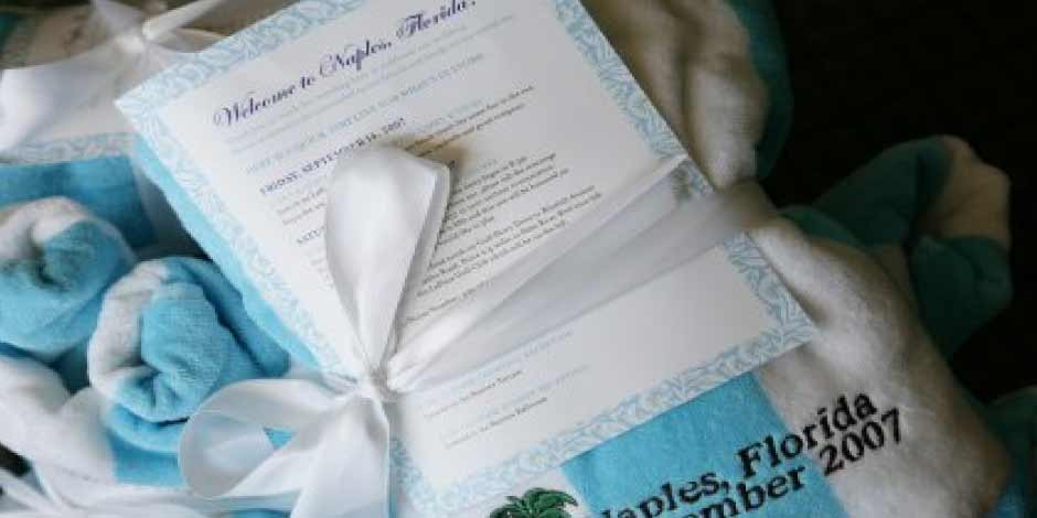 Destination Wedding Welcome Card