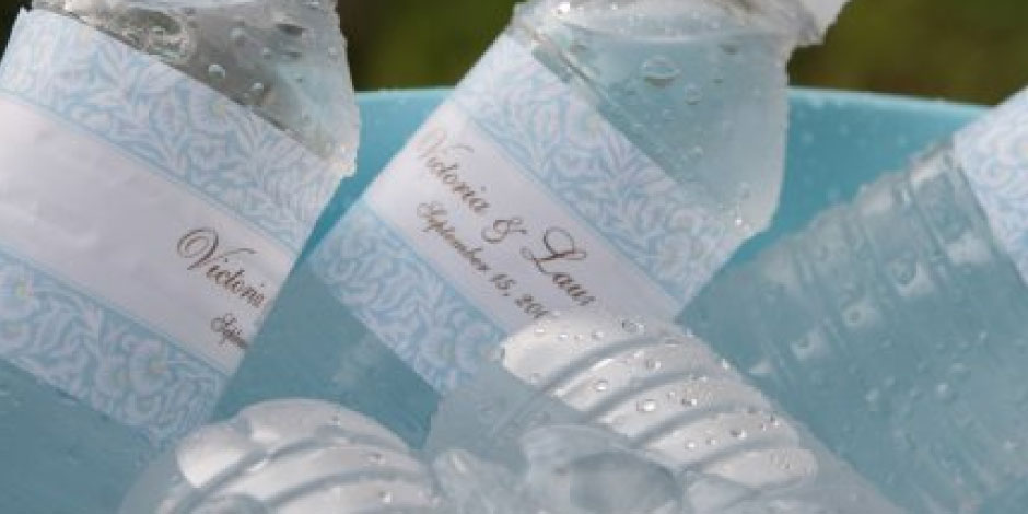 Destination Wedding Water Bottles