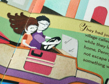 Chocolate Party Invitation 2013 – Cut Paper Storybook