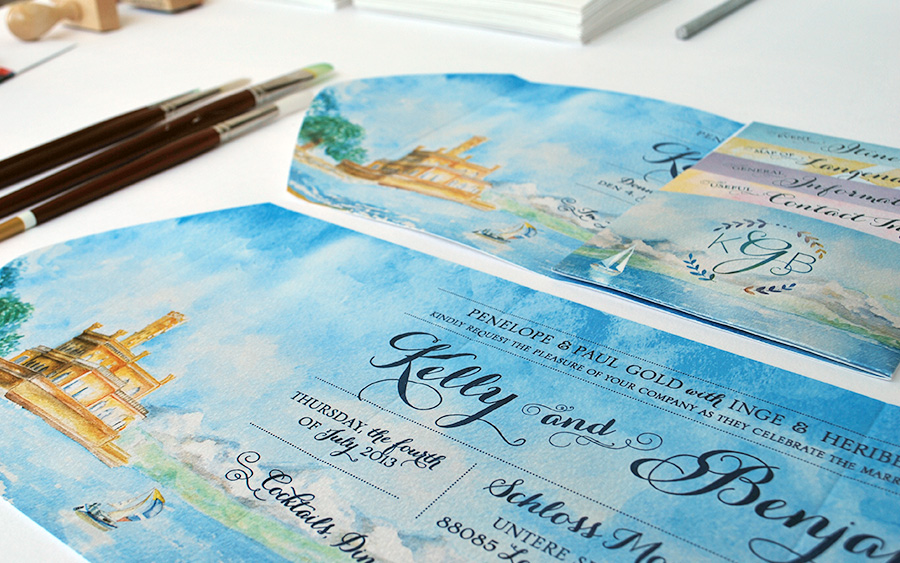 7-Internation-Wedding-Invitation-Watercolor