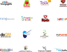 Logos & identities designed for various clients.
