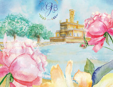 International Wedding Invitation Watercolor